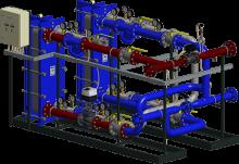 АТП с параллельным присоединением системы горячего водоснабжения (для регулируемых систем отопления)