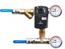 Смесительный узел для воздухоохладителя с приборами (схема 3)