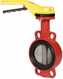 Затвор дисковый поворотный XUROX 202WHT P чугунный межфланцевый PN16