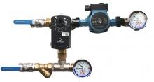 Смесительный узел для воздухонагревателя с приборами (схема 3)