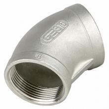 Фитинг: Отвод 45° GENEBRE 0120 нерж. сталь, резьбовой, PN20