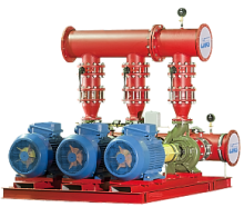 Автоматизированные насосные станции для систем водяного пожаротушения Оптибуст АНПУ с насосами АК