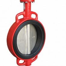 Затвор дисковый поворотный XUROX 202WE чугунный межфланцевый PN16 с ISO-фланцем