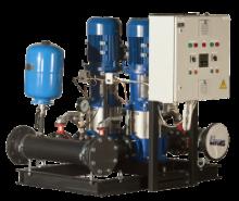 Автоматизированные повысительные насосные установки для систем водоснабжения Оптибуст АНУ с насосами АЦМС