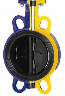 Затвор дисковый поворотный ZETKAMA 497B-XXX-CD6 чугунный межфланцевый PN16 с редуктором