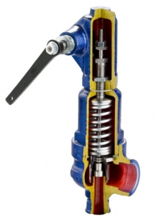 Клапан предохранительный ZETKAMA 775B чугунный резьбовой PN16