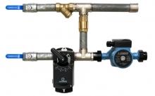Смесительный узел для воздухонагревателя c 2-x ходовым клапаном (схема 7)