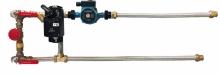 Смесительный узел с байпасом и гибкой подводкой (схема 5)