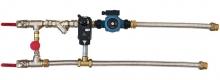 Смесительный узел с байпасом и гибкой подводкой (схема 6)