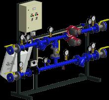 АТП с зависимым присоединением системы отопления (узел смешения)