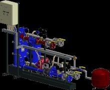 АТП с параллельным присоединением системы теплоснабжения вентиляционных установок с заполнением гликолевыми растворами