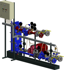 АТП с праллельным присоединением системы теплоснабжения вентиляционных установок с заполнением сетевым теплоносителем